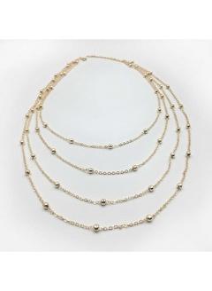 Happy Accessories Kadın Çoklu Altın Zincir Seti